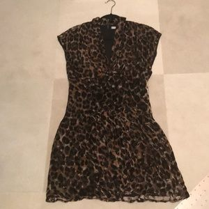 ALICE & OLIVIA Leopard, Sleeveless MINI-dress - 4